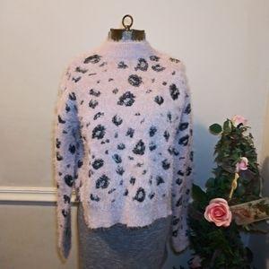 NWT Candie's Soft & Cozy Animal Eyelash Sweater